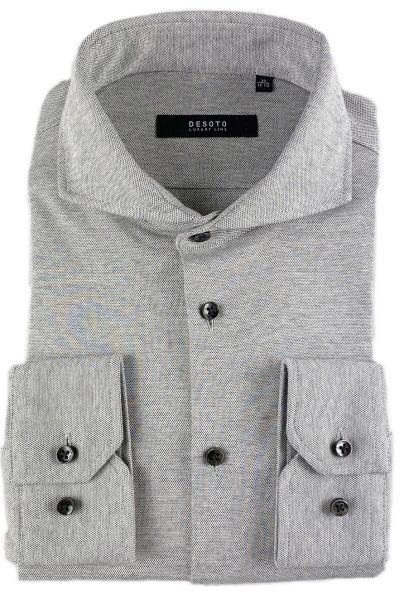 Desoto Luxury Pique Shirt - Light Grey