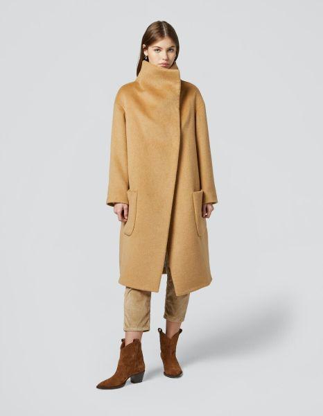 Dondup Oversized Overcoat in Camel