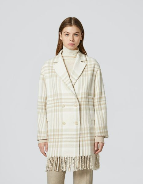 Dondup Double Breasted Checked Cotton Coat