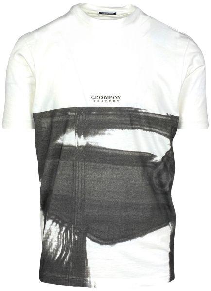 C.P. Company Digital Print T-Shirt - White/Black
