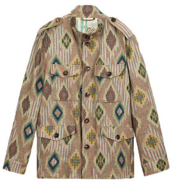 Etro Geometric Design Safari Jacket - Beige