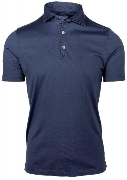 Fedeli Jersey Polo - Dark Blue