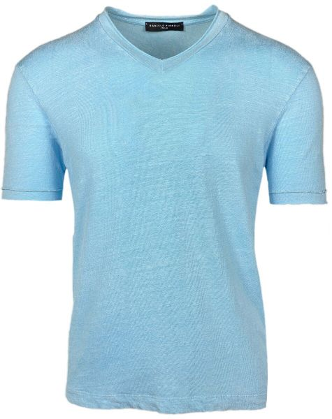 Daniele Fiesoli V-Neck T-Shirt - Light Blue
