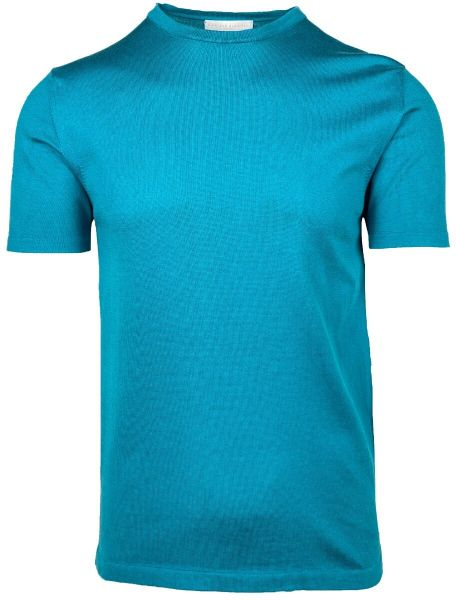 Daniele Fiesoli Knitted Round Neck T-Shirt - Turquoise