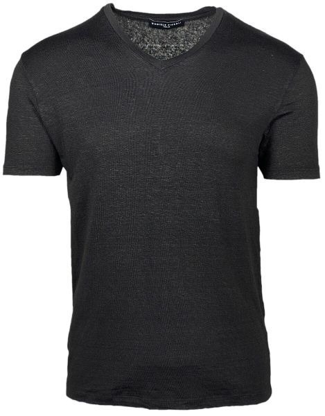 Daniele Fiesoli Stretch T-Shirt V-Neck - Black