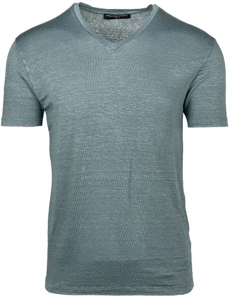 Daniele Fiesoli Stretch T-Shirt V-Neck - Grey