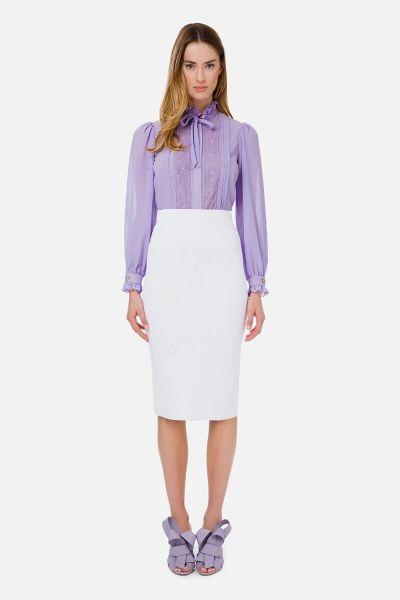 Elisabetta Franchi Momogram Motif Knit Skirt