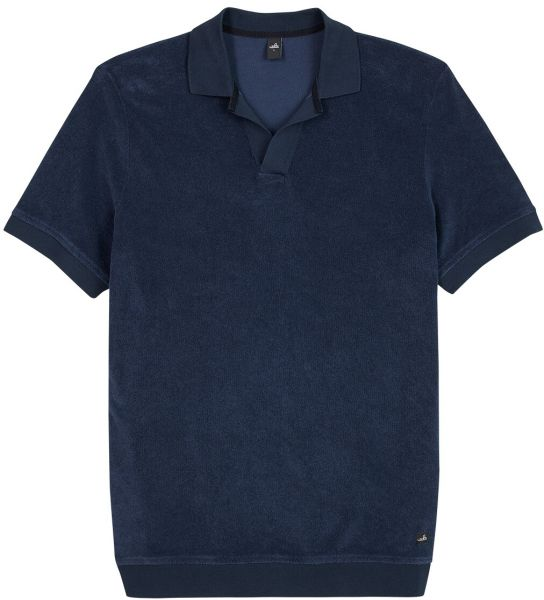 Wahts Towelling Retro Poloshirt - Navy Blue