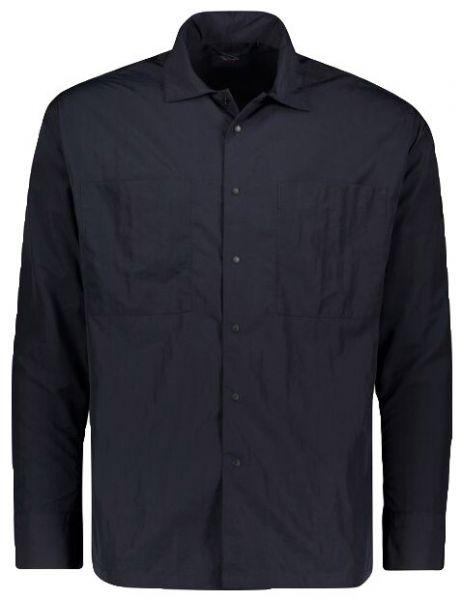 Paul & Shark Overshirt With Iconic Badge - Navy Blue