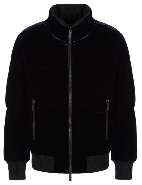 Giorgio Armani Bomber Jacket Velours - Navy Blue