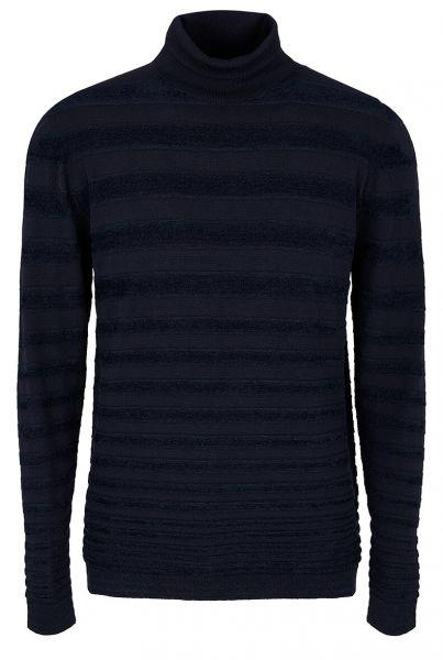 Giorgio Armani Knitted Turtleneck - Navy Blue