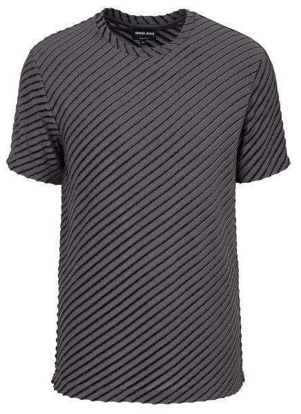 Giorgio Armani Jersey Striped T-Shirt - Dark Grey