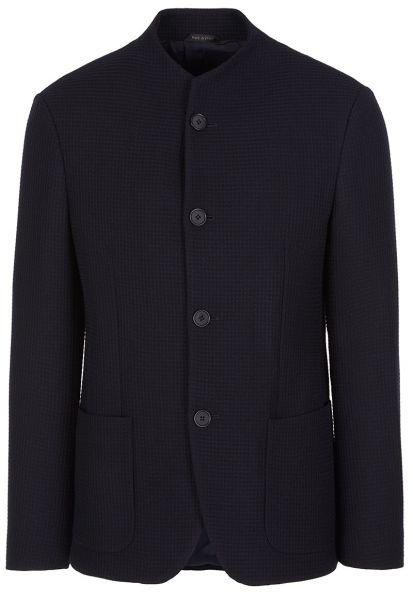 Giorgio Armani Woven Jacket - Navy Blue