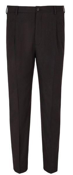 Giorgio Armani Pants Wool - Dark Brown