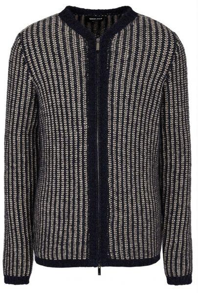 Giorgio Armani Knitted Cardigan - Beige/Navy