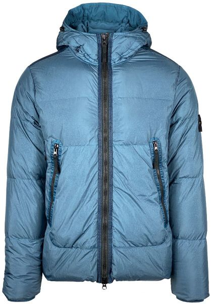 Stone Island Garment Dyed Crinkle Reps NY Down - Petrol Blue