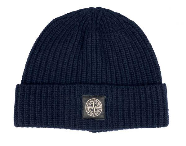 Stone Island Wool Hat - Navy Blue