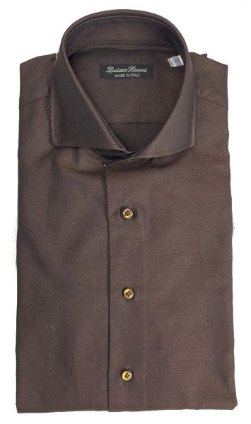 Luciano Baroni Shirt Freccia - Brown