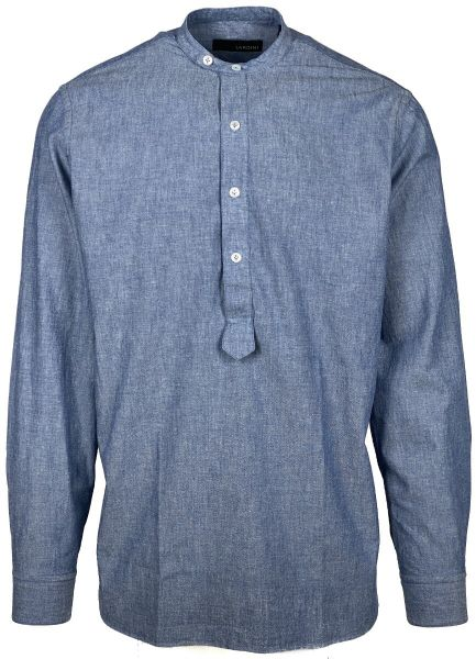 Lardini Shirt Long Sleeve - Jeans Blue