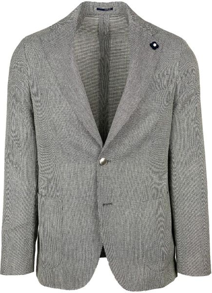 Lardini Blazer - Light Grey/Black