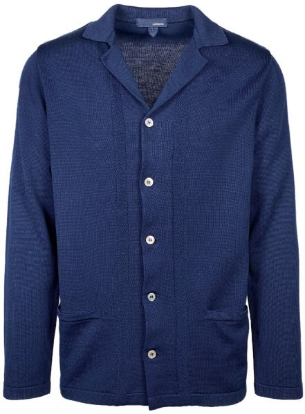 Lardini Knitted Cardigan - Dark Blue