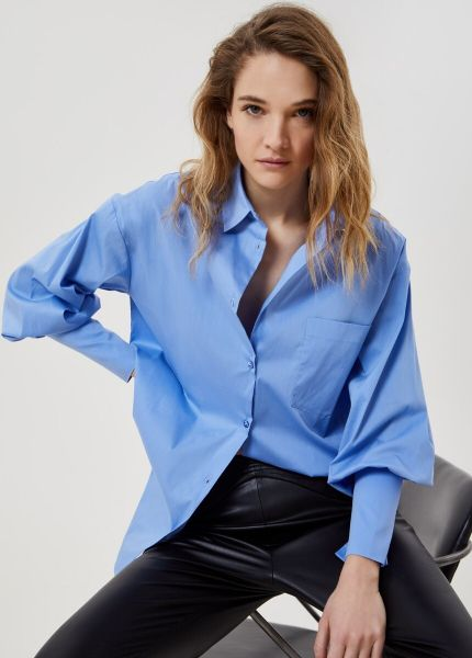 Liu Jo Popeline Cotton Blouse - Blue