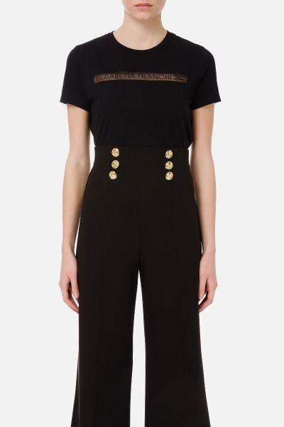 Elisabetta Franchi T Shirt - Zwart