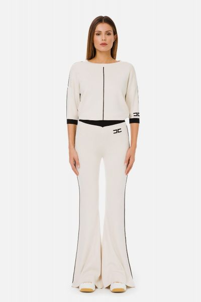 Elisabetta Franchi 3/4 Sleeved Tricot Top