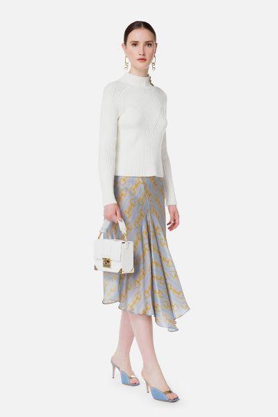 Elisabetta Franchi Rib Knitted Sweater - Avorio