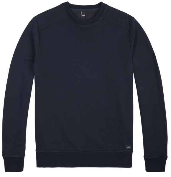 Wahts Moore Plain Sweater - Navy Blue