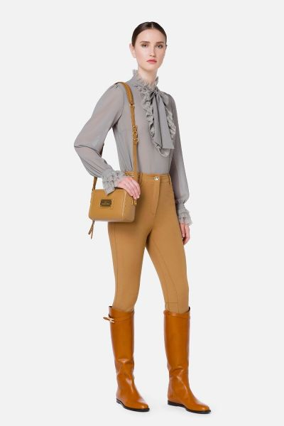 Elisabetta Franchi Equestrian Styled Pants With Gold Horsebits - Mou