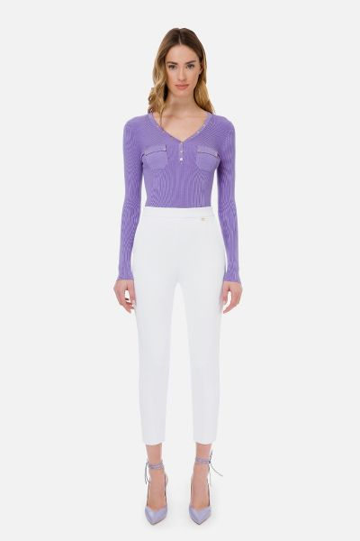 Elisabetta Franchi Pantalon - Off White