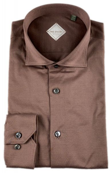 Pal Zileri Slim Fit Knit Shirt - Brown