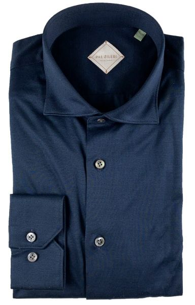 Pal Zileri Slim Fit Knit Shirt - Dark Blue