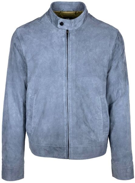 Lab Pal Zileri Suede Jacket - Mid Blue