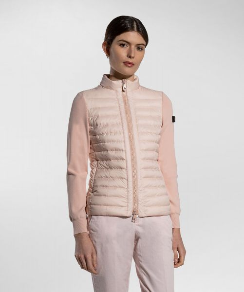 Peuterey Double Fabric Quilted Down Jacket - Powder Pink