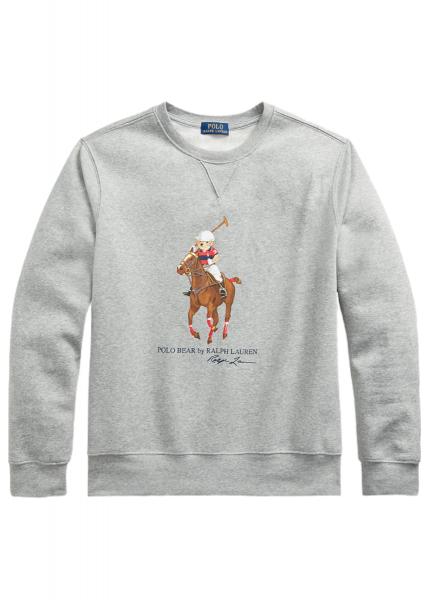 Ralph Lauren Bear & Big Pony Fleece Sweatshirt - Heather Grey