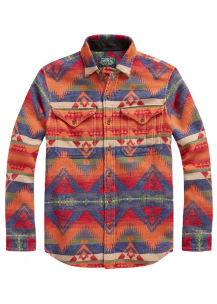 Ralph Lauren Classic Fit Southwestern Jacquard Shirt
