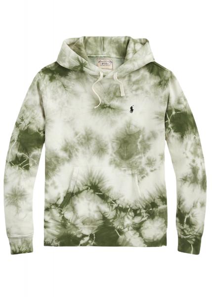 Ralph Lauren Garment Dyed Fleece Hoodie - Olive Cloud Wash