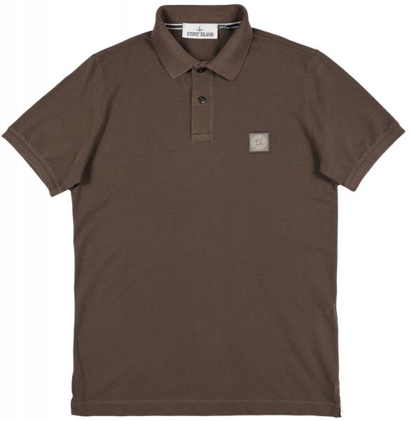 Stone Island Cotton Pique Poloshirt - Dark Brown