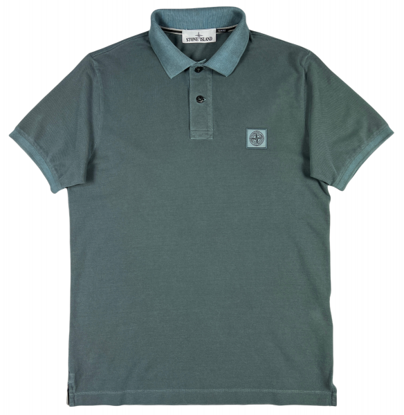 Stone Island Cotton Pique Poloshirt - Mid Blue