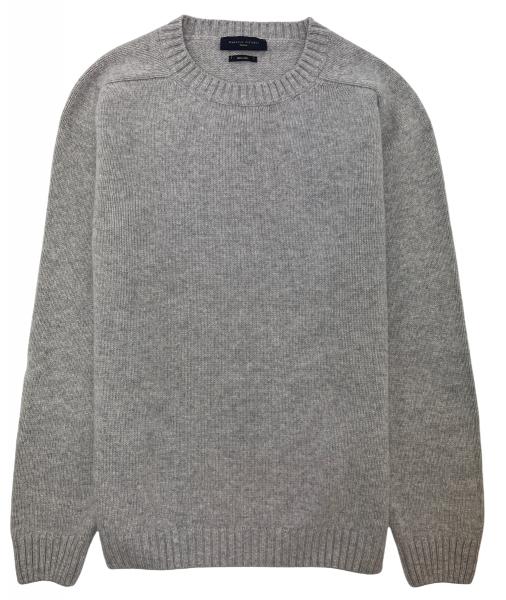 Daniele Fiesoli Merino Wool Crewneck Sweater - Light Grey