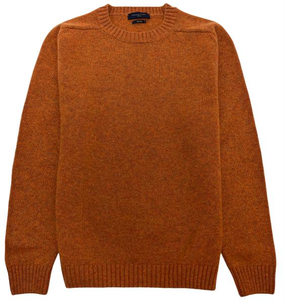 Daniele Fiesoli Merino Wool Crewneck Sweater - Terracotta