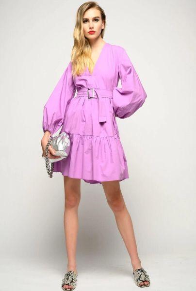 Pinko Popeline Dress - Purple