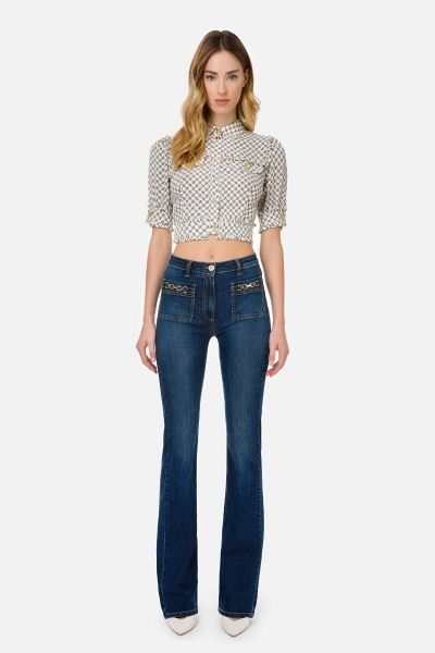 Elisabetta Franchi Trumpet Jeans With Accessory