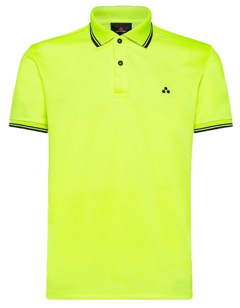 Peuterey Fluorescent Polo Shirt With Graphic Details - Fluo Yellow