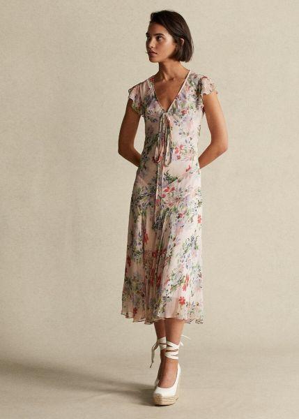 Ralph Lauren Floral Flutter Sleeve Dress