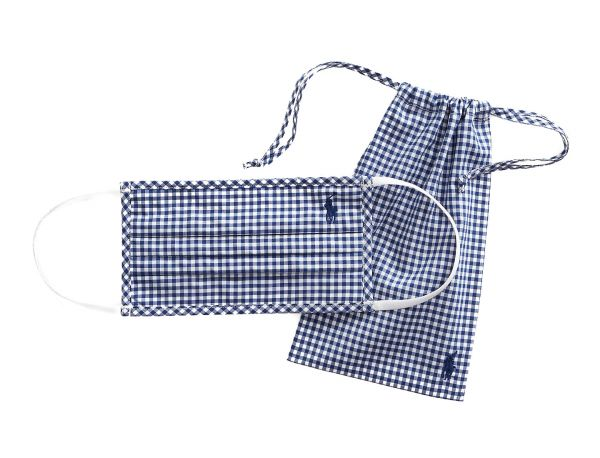 Ralph Lauren Polo Cotton Face Mask - Navy Check