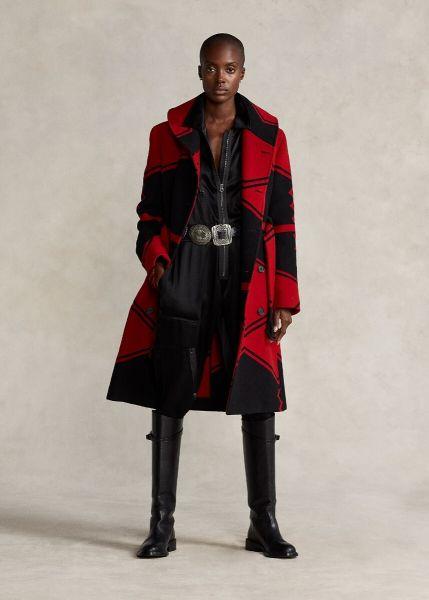 Ralph Lauren Belted Jacquard Coat
