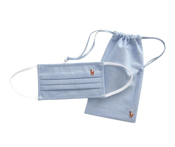 Ralph Lauren Polo Oxford Cotton Face Mask